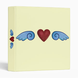 Heart with Wings 3 Ring Binder