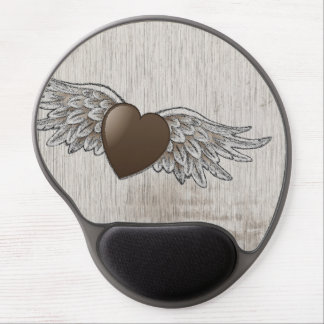 Heart with Wings Gel Mouse Pad