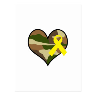 HEART WITH YELLOW RIBBON POSTCARD