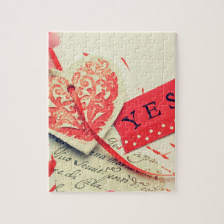 Heart with yes puzzle