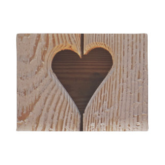 Heart Wood Carving Doormat