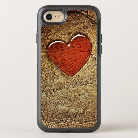 Heart & Wooden Design OtterBox Symmetry iPhone 7 Case