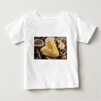 Heart Wooden Heart Hydrangea Flower Wood Love Baby T-Shirt