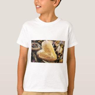 Heart Wooden Heart Hydrangea Flower Wood Love T-Shirt