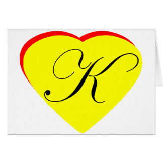 Heart Yellow Red K Wedding Invitation The MUSEUM Z Cards