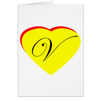 Heart Yellow Red V Wedding Invitation The MUSEUM Z Card