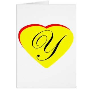 Heart Yellow Red Y Wedding Invitation The MUSEUM Z Greeting Cards