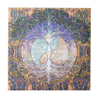 Heart, yin yang, tree of life by Amelia Carrie Tile