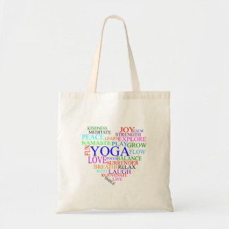 Heart Yoga Tote Bag