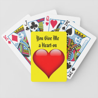 Heart You Give Me a Heart-on Poker Deck