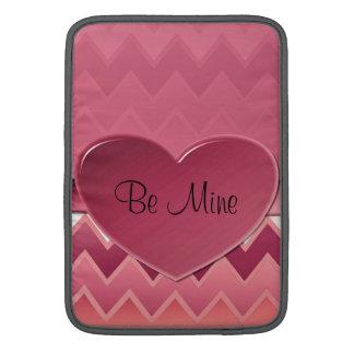 Heart zigzag-Mauve MacBook Sleeve