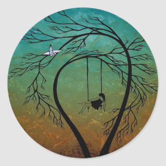 Heartache and Poetry 20... Classic Round Sticker