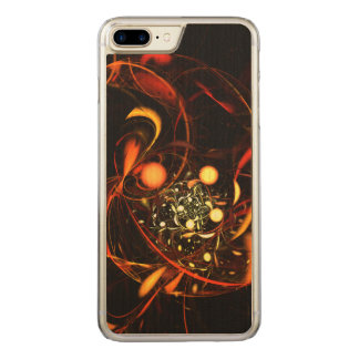 Heartbeat Abstract Art Carved iPhone 7 Plus Case