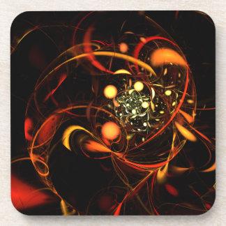 Heartbeat Abstract Art Cork Coaster