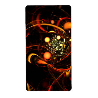Heartbeat Abstract Art Fractal Shipping Label