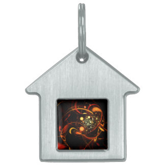 Heartbeat Abstract Art House Pet ID Tag
