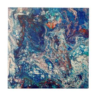 Heartbeat Abstract Art Tile