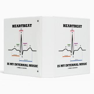 Heartbeat Is My Internal Music EKG Sinus Rhythm Binder