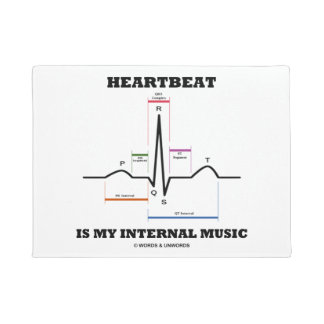Heartbeat Is My Internal Music EKG Sinus Rhythm Doormat