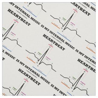 Heartbeat Is My Internal Music EKG Sinus Rhythm Fabric