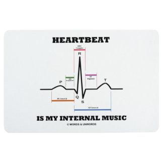 Heartbeat Is My Internal Music EKG Sinus Rhythm Floor Mat