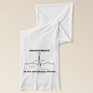 Heartbeat Is My Internal Music EKG Sinus Rhythm Scarf