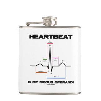 Heartbeat Is My Modus Operandi Sinus Rhythm Hip Flask