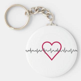 Heartbeat Keychain