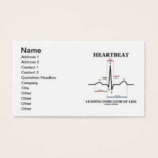 Heartbeat Leading Indicator Of Life (ECG/EKG) Business Card