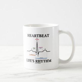 Heartbeat Life's Rhythm (ECG/EKG Heartbeat) Coffee Mug
