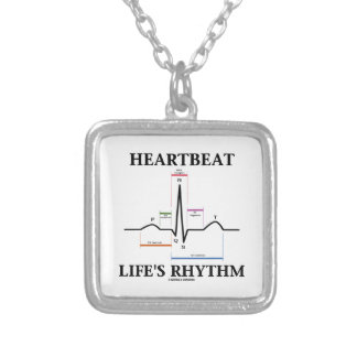 Heartbeat Life's Rhythm (ECG/EKG) Silver Plated Necklace