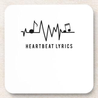 Heartbeat Lyrics Music Lover Musicaholic Fun Gift Coaster