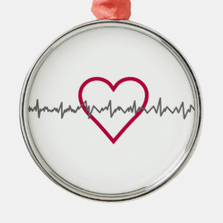 Heartbeat Metal Ornament