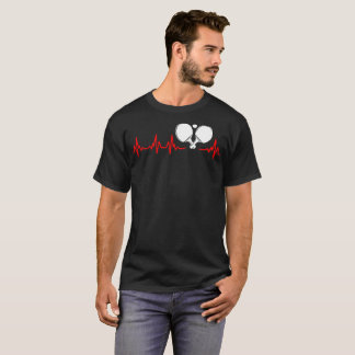 Heartbeat Ping Pong Outdoors Sports Tshirt
