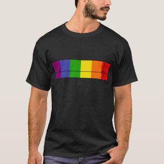 Heartbeat rainbow flag T-shirt