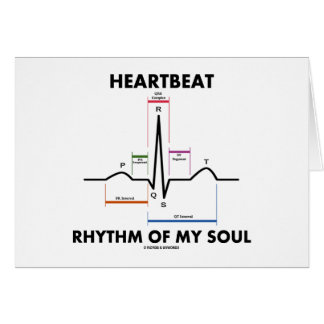Heartbeat Rhythm Of My Soul (ECG/EKG) Card