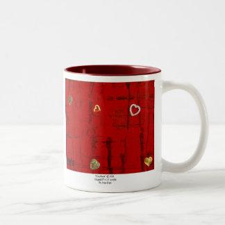 Heartbeat Two-Tone Coffee Mug