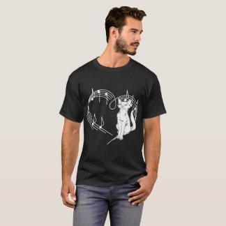 Heartbeats Abyssinian Cat Pet Love Rhythm Tshirt