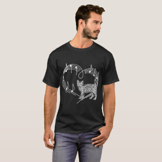Heartbeats Bengal Cat Pet Love Rhythm Tshirt