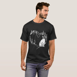 Heartbeats Burmese Cat Pet Love Rhythm Tshirt
