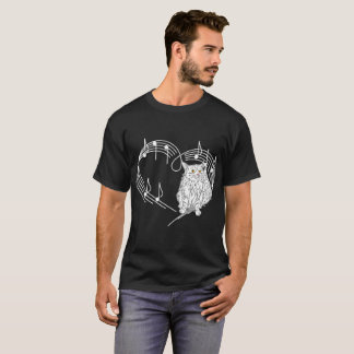 Heartbeats Maine Coon Cat Pet Love Rhythm Tshirt