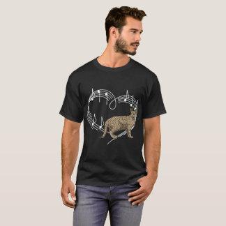Heartbeats Ocicat Cat Pet Love Rhythm Tshirt