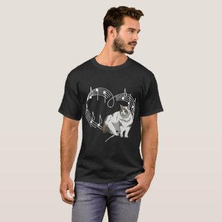 Heartbeats Ragdoll Cat Pet Love Rhythm Tshirt