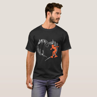 Heartbeats Roller Skating Outdoors Sports Rhythm T-Shirt