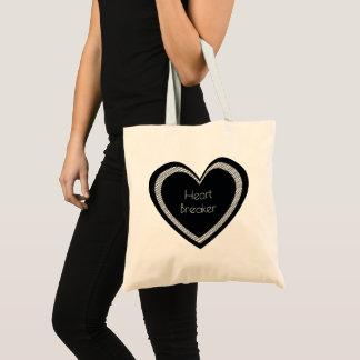Heartbreaker Black Heart   Basic Tote