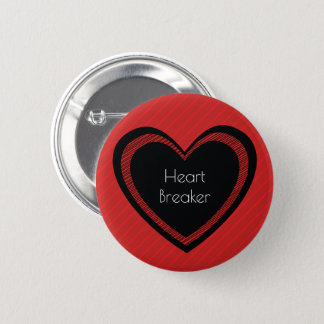 Heartbreaker Red and Black   Button