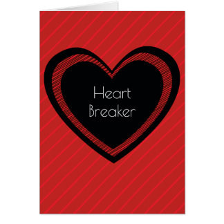 Heartbreaker Red and Black   Greeting Card