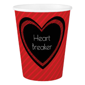 Heartbreaker Red and Black   Paper Cup