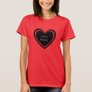 Heartbreaker Red and Black | Womens T-shirt