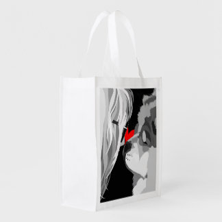 HEARTDOG logo Reusable Grocery Bag